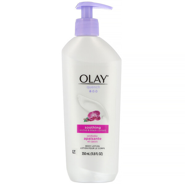 Olay, Quench, Soothing Body Lotion, Orchid & Black Currant, 11.8 fl oz (350 ml)