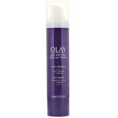 Купить Olay Антивозрастное средство против морщин, дневной крем и сыворотка 2в1, 50мл (1, 7жидк.унции)