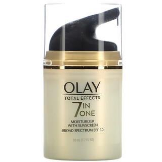 Olay, تأثير شامل، مرطب مع واقي شمسي  7 في واحد، مع عامل حماية من الشمس درجة 30، 1.7 أونصة سائلة (50 مل)