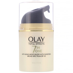 Olay, Total Effects, 7-in-One Anti-Aging Moisturizer with Sunscreen, SPF 30, 1.7 fl oz (50 ml) отзывы