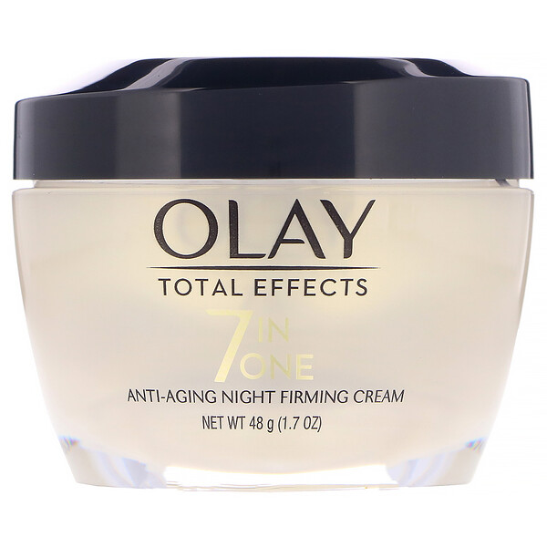 Olay, Total Effects, 7-in-One Anti-Aging Night Firming Cream,  1.7 oz (48 g)