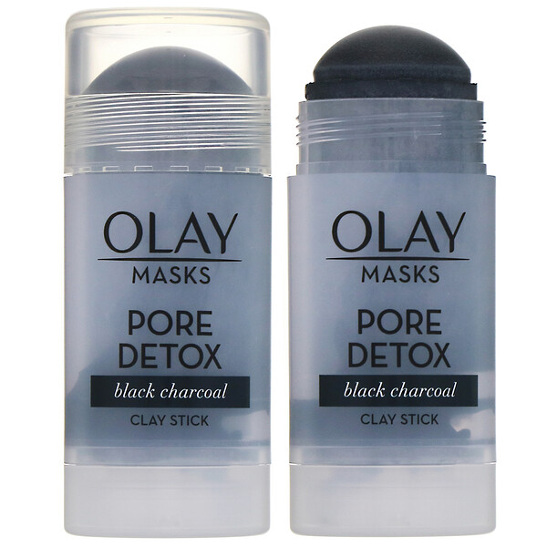 Masks, Pore Detox, Black Charcoal Clay Stick Mask, 1.7 oz (48 g)