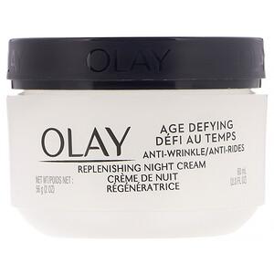 Olay, Age Defying, Anti-Wrinkle, Night Cream, 2 fl oz (60 ml) отзывы