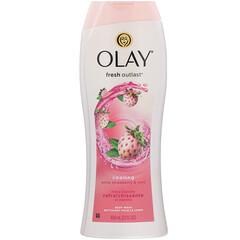 Olay, 美肌沐浴露,清爽白草莓薄荷,22 液量盎司(650 毫升)