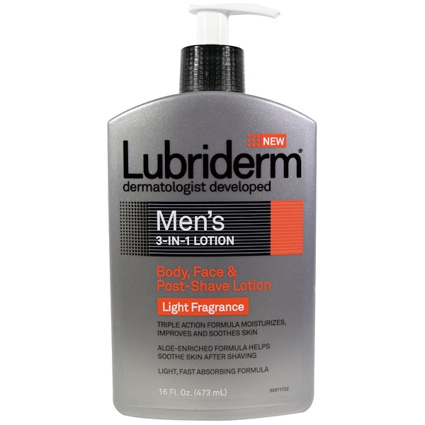 Men's 3-In-1 Lotion, Body, Face & Post-Shave Lotion, 16 fl oz (473 ml)