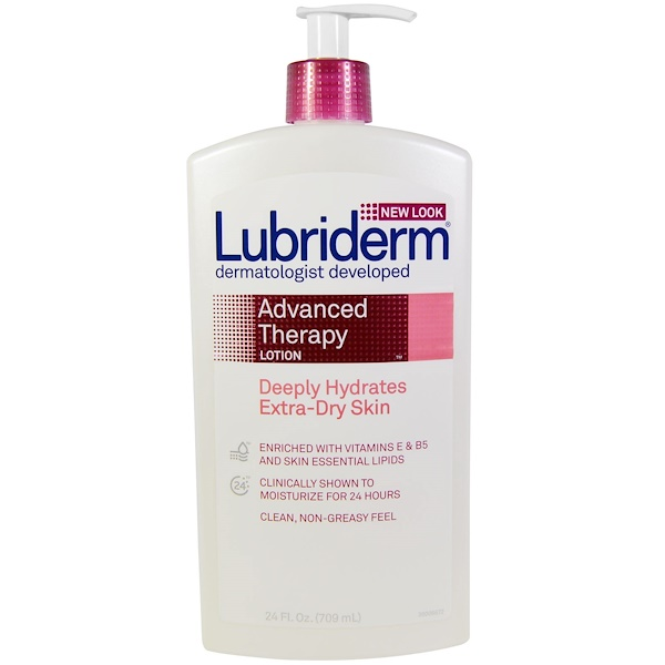 Lubriderm, Advanced Therapy Lotion, Deeply-Hydrates Extra-Dry Skin, 24 fl oz. (709 ml)