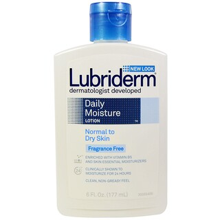 Lubriderm, Daily Moisture Lotion, Normal to Dry Skin, Fragrance Free, 6 fl oz (177 ml)
