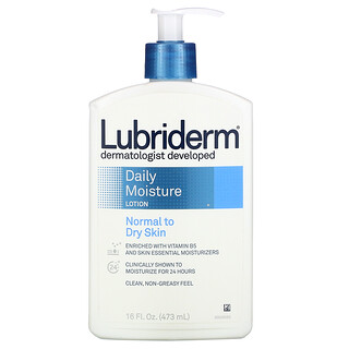 Lubriderm, Daily Moisture Lotion, 16 fl oz (473 ml)