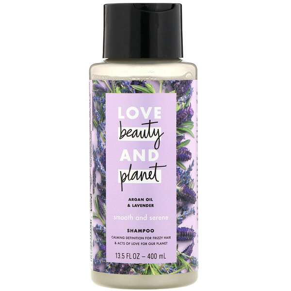 Smooth and Serene Shampoo, Argan Oil & Lavender, 13.5 fl oz (400 ml)