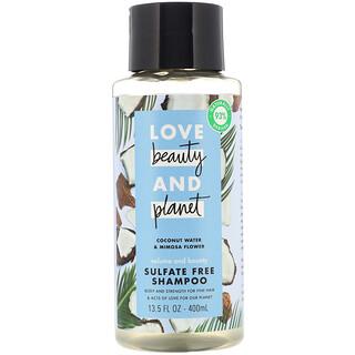 Love Beauty and Planet, Шампунь Volume and Bounty, «Кокосовая вода и цветы мимозы», 400мл