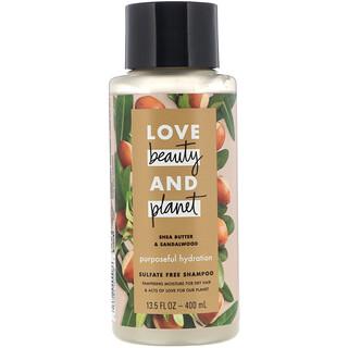 Love Beauty and Planet, Purposeful Hydration Shampoo, Shea Butter & Sandalwood, 13.5 fl oz (400 ml)