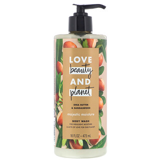 Love Beauty and Planet, Интенсивно увлажняющий гель для душа, «Масло ши и сандаловое дерево», 473мл