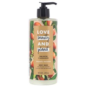 Love Beauty and Planet, Majestic Moisture Body Wash, Shea Butter & Sandalwood, 16 fl oz (473 ml) отзывы покупателей
