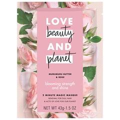 Love Beauty and Planet, 2 分鐘魔幻面膜,木魯星果籽油和玫瑰,1.5 盎司(43 克)