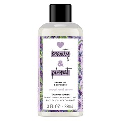 Love Beauty and Planet, 光滑和平靜的護髮素,含摩洛哥堅果油和薰衣花草,3 液量盎司(89 毫升)