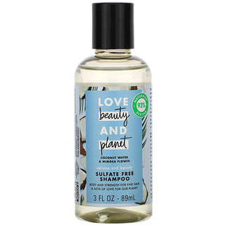 Love Beauty and Planet, Volume and Bounty Shampoo, Coconut Water & Mimosa Flower, 3 fl oz (89 ml)