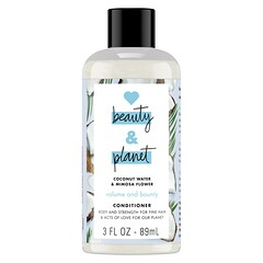 Love Beauty and Planet, 豐盈滋潤護髮素,含椰汁和含羞草花,3 液量盎司(89 毫升)