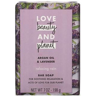 Love Beauty and Planet, Relaxing Rain, Bar Soap, Argan Oil & Lavender, 7 oz (198 g)