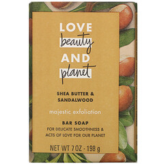 Love Beauty and Planet, Majestic Exfoliation,塊皂,乳木果油和檀香木,7 盎司(198 克)。
