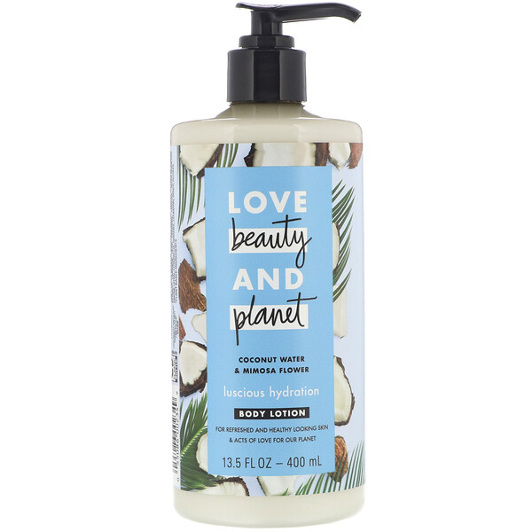 Luscious Hydration Body Lotion, Coconut Water & Mimosa Flower, 13.5 fl oz (400 ml)