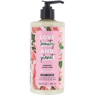 Love Beauty and Planet, Delicious Glow, лосьон для тела, с маслом мурумуру и розой, 400мл (13,5 жидк.унции)