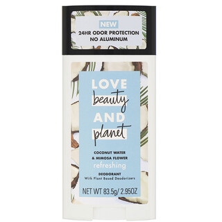 Love Beauty and Planet, Refreshing Deodorant, Coconut Water & Mimosa Flower, 2.95 oz (83.5 g)