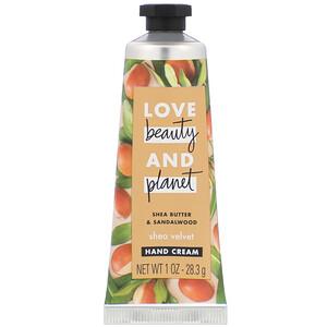 Love Beauty and Planet, Shea Velvet Hand Cream, Shea Butter & Sandalwood, 1 oz (28.3 g) отзывы покупателей