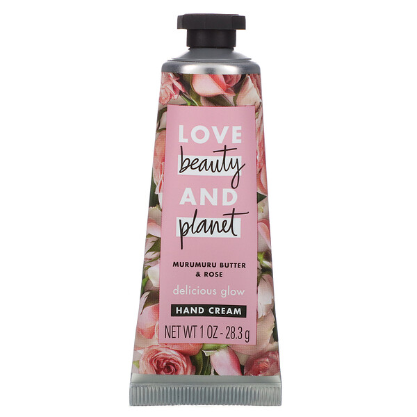 Delicious Glow Hand Cream, Murumuru Butter & Rose, 1 oz (28.3 g)
