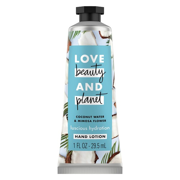 Love Beauty and Planet, Luscious Hydration Hand Lotion, Coconut Water & Mimosa Flower, 1 oz (29.5 ml) (Discontinued Item)