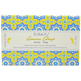 La Belle Vie, Lemon Drop Bar Soap, 7 oz (200 g)