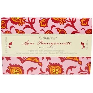 La Belle Vie, Acai Pomegranate Bar Soap, 7 oz (200 g)