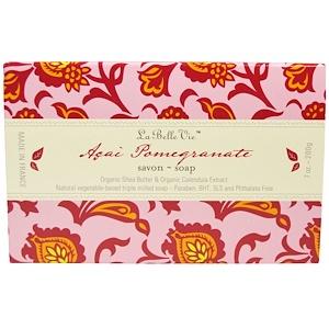 La Belle Vie, Кусковое мыло «Асаи и гранат», 7 унций (200 г)