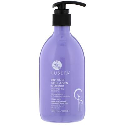 Купить Luseta Beauty Biotin & Collagen, Shampoo, 16.9 fl oz (500 ml)