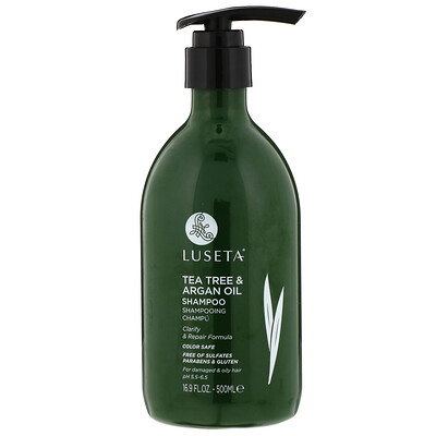 Luseta Beauty Tea Tree & Argan Oil, Shampoo, 16.9 fl oz (500 ml)
