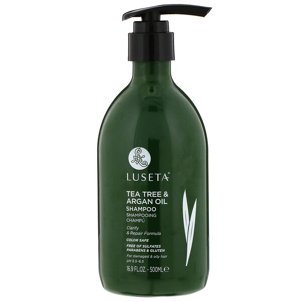 Tea Tree & Argan Oil, Shampoo, 16.9 fl oz (500 ml)