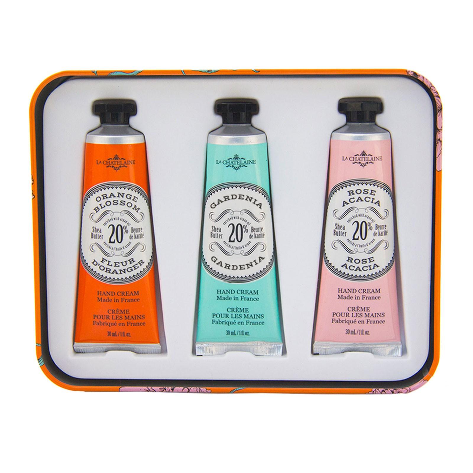 La Chatelaine, Крем для рук «Трио», апельсин, 3 шт. по 1 жидк. унц. (30 мл) каждый