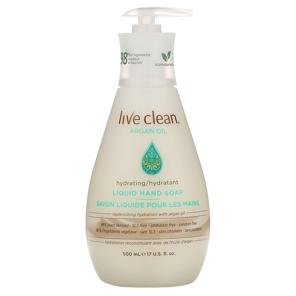 Live Clean, Hydrating Liquid Hand Soap, Argan Oil, 17 fl oz (500 ml)