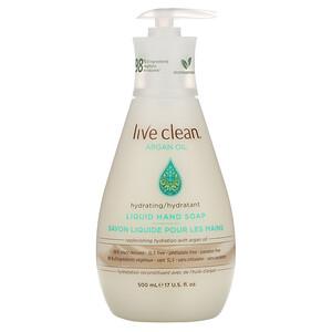 Лив Клин, Hydrating Liquid Hand Soap, Argan Oil, 17 fl oz (500 ml) отзывы покупателей
