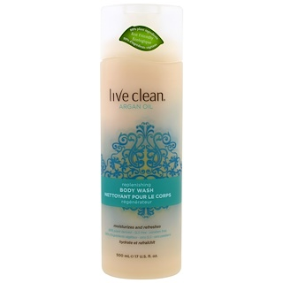 Live Clean, Replenishing Body Wash, Argan Oil, 17 fl oz (500 ml)
