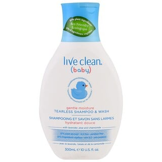 Live Clean, Baby, Gentle Moisture, Tearless Shampoo & Wash, 10 fl oz. (300 ml)