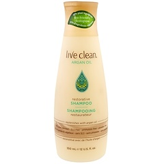 Live Clean, Champú restaurador, aceite de argán, 12 fl oz (350 ml)