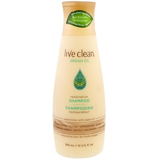 Live Clean, Restorative Shampoo, Argan Oil, 12 fl oz (350 ml)