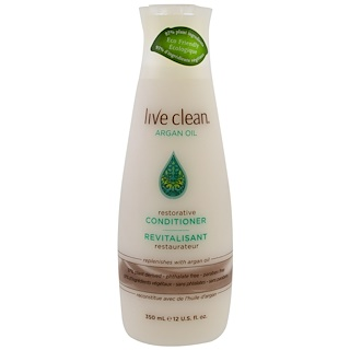 Live Clean, Restorative Conditioner, Argan Oil, 12 fl oz (350 ml)
