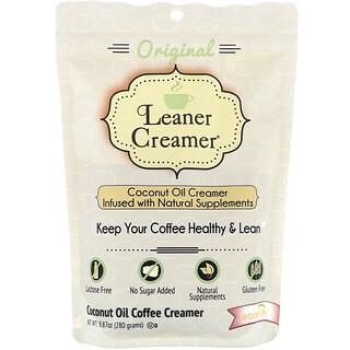 Leaner Creamer, Coconut Oil Coffee Creamer, Original, 9.87 oz (280 g)