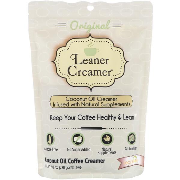 Leaner Creamer, Crema para café de aceite de coco, original, 9.87 oz (280 g)