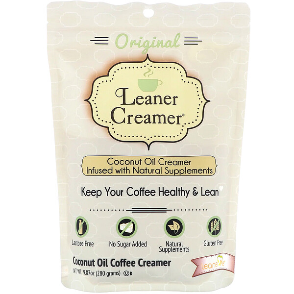 Leaner Creamer, Coconut Oil Coffee Creamer, Original, 9.87 oz (280 g)
