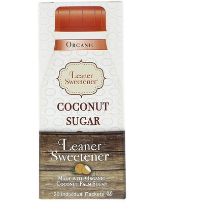 Купить Leaner Creamer Organic, Coconut Sugar, 20 Individual Packets, 0.14 oz (4 g) Each