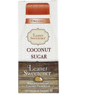 Leaner Creamer, Organic, Coconut Sugar, 20 Individual Packets, 0.14 oz (4 g) Each