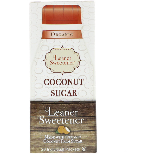 Organic, Coconut Sugar, 20 Individual Packets, 0.14 oz (4 g) Each