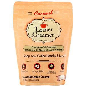 Leaner Creamer, Coconut Oil Coffee Creamer, Caramel, 9.87 oz (280 g) отзывы покупателей